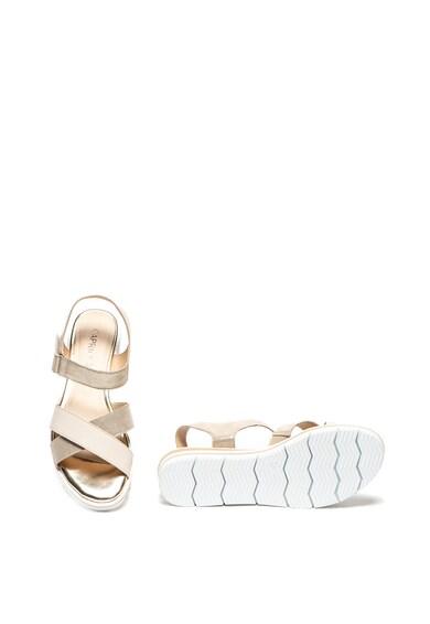 Caprice Sandale de piele si piele intoarsa, cu velcro Femei