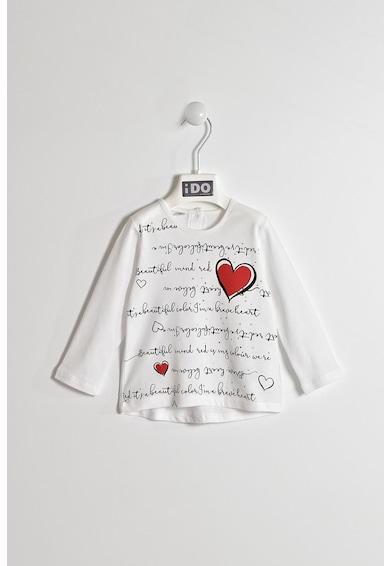iDO Kids Bluza cu text si imprimeu grafic Fete