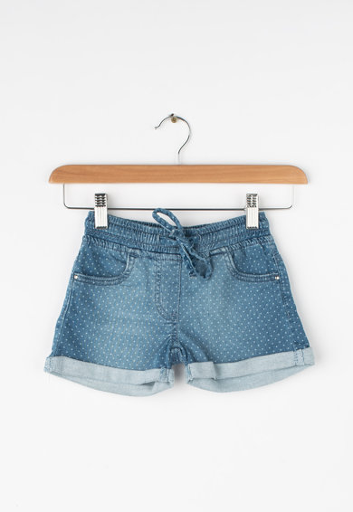 iDO Kids Pantaloni scurti de denim cu buline si snur Fete