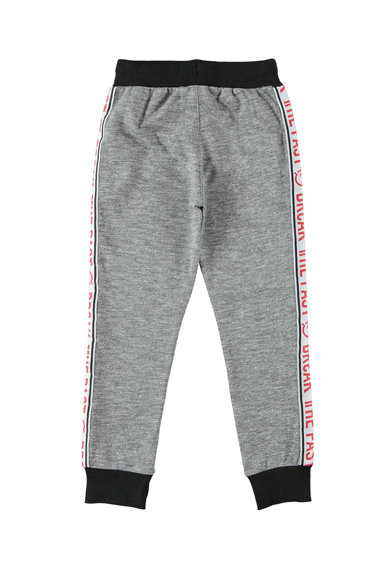 iDO Kids Pantaloni jogger cu detalii cu imprimeu text in partile laterale Baieti