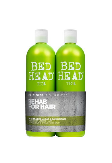 Tigi Set ingrijire par  Bed Head Re-Energize pentru par normal: Sampon, 750 ml + Balsam, 750 ml Femei
