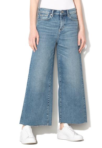 Banana Republic Pantaloni culotte din denim cu talie medie si croiala ampla Femei