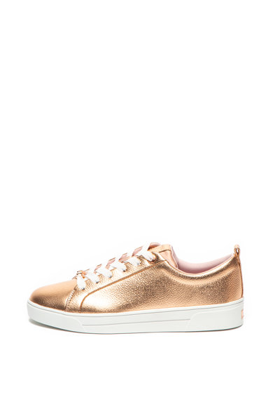 Ted Baker Кожени спортни обувки Gielli с метален ефект Жени