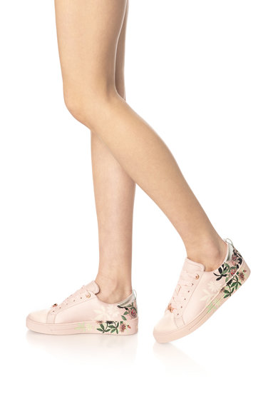 Ted Baker Pantofi sport de satin cu insertii de piele Rialy Femei