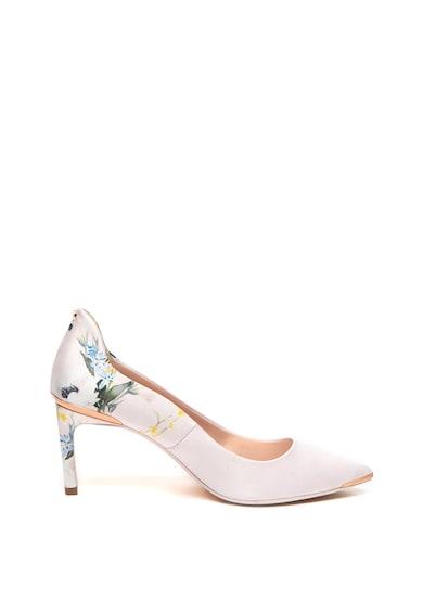 Ted Baker Pantofi desatin cu varf ascutit si model floral Eriin Femei