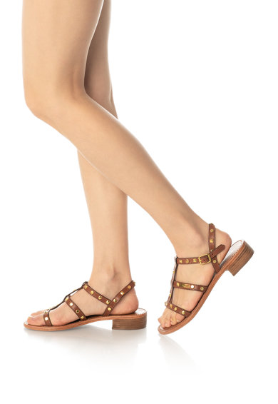Les Tropeziennes Sandale de piele cu tinte Bam Femei