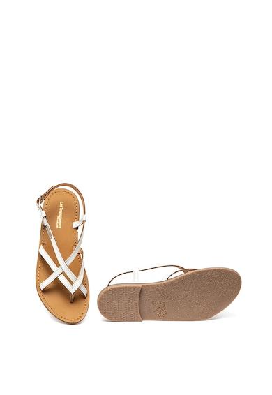 Les Tropeziennes Sandale de piele cu barete multiple Chouette Femei