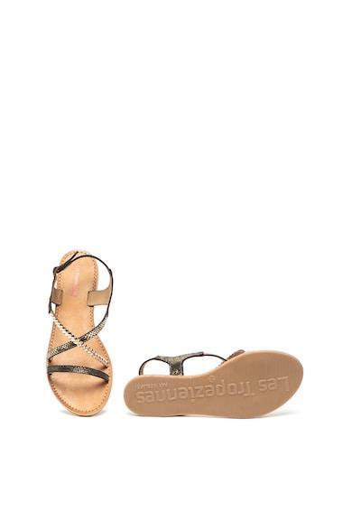 Les Tropeziennes Sandale de piele cu aspect stralucitor Horse Femei