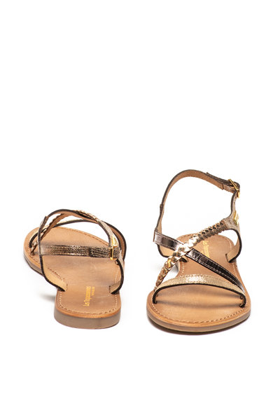 Les Tropeziennes Sandale de piele si piele intoarsa cu barete multiple Hanano Femei