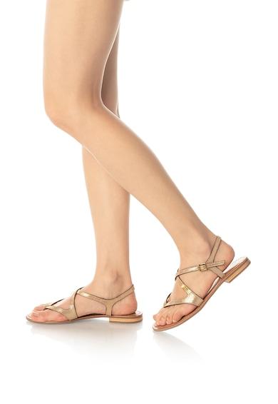 Les Tropeziennes Sandale de piele cu aspect metalizat Hedi Femei