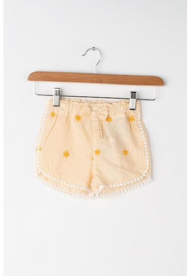 NAME IT Pantaloni scurti cu model in dungi si detalii crosetate Fenja Fete