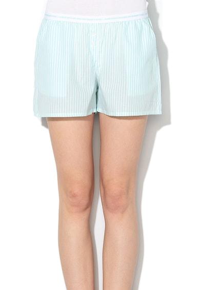 Undercolors of Benetton Pantaloni scurti de casa, cu model in dungi si banda elastica in talie Femei