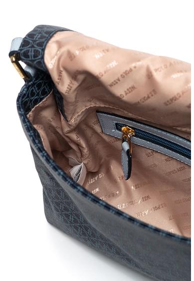 U.S. Polo Assn. Geanta de piele ecologica, cu bareta de umar si model geometric Femei