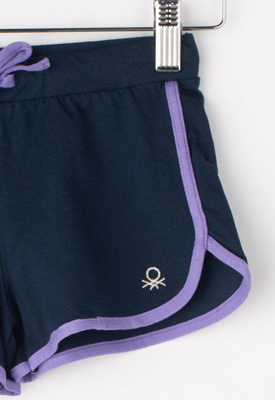 United Colors of Benetton Pantaloni scurti cu logo brodat Fete