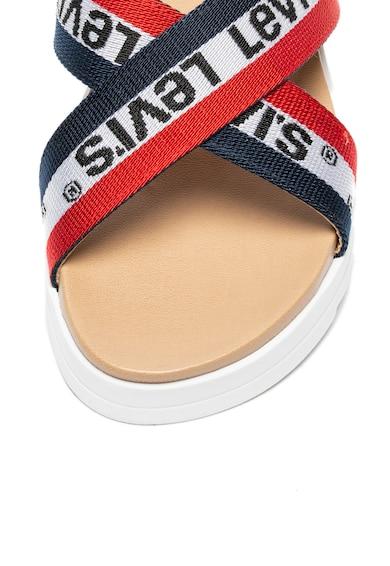Levi's Sandale wedge din piele si material textil Femei