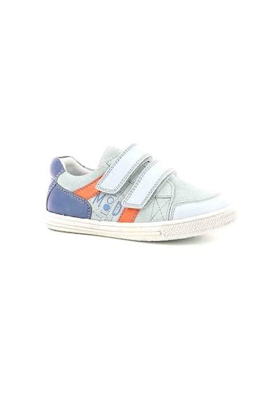 Mod8 kids Pantofi sport de piele si piele intoarsa, cu velcro Funny Fete