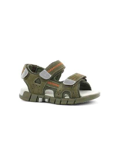 Mod8 kids Sandale de piele intoarsa cu insertii textile Tribath Fete