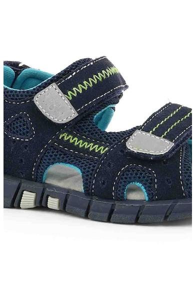 Mod8 kids Sandale de piele intoarsa, cu insertii din material textil Tribath, baieti, cu velcro, Bleumarin Fete