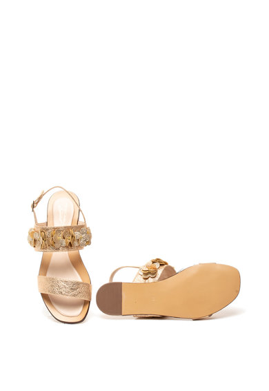 Tosca Blu Sandale de piele ecologica cu aplicatii florale Bibi Femei
