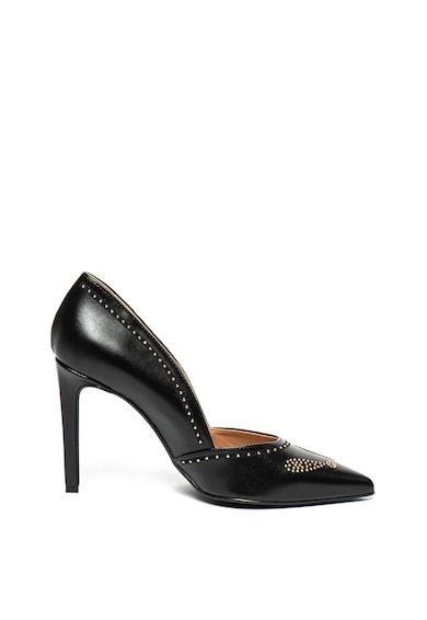 Love Moschino Műbőr cipő szegecses rátéttel női