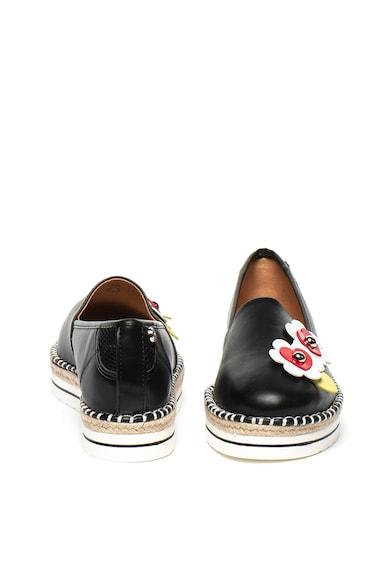 Love Moschino Műbőr espadrille cipő virágos rátétekkel női