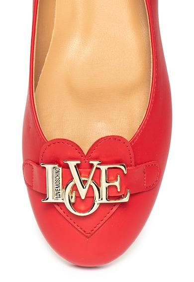Love Moschino Balerini de piele cu logo metalic Femei