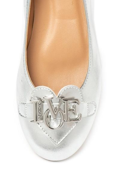Love Moschino Műbőr cipő fémes hatással női