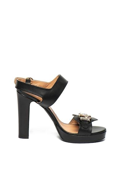 Love Moschino Кожени сандали с масивен ток Жени