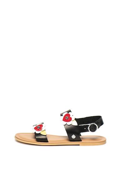 Love Moschino Кожени сандали с апликации Жени