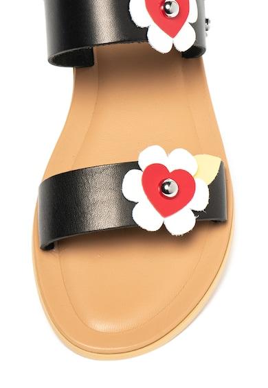 Love Moschino Bőrszandál virágos rátéttel női