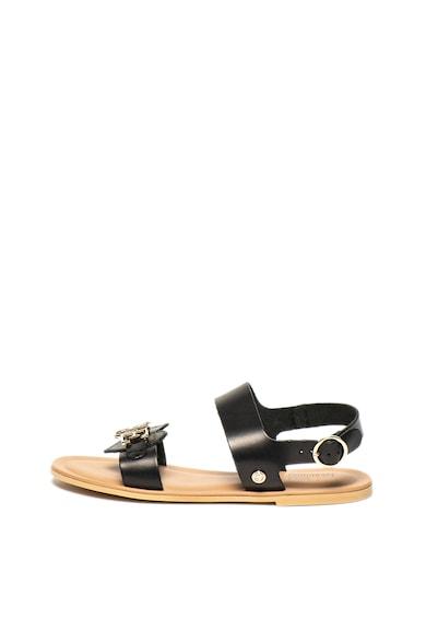 Love Moschino Кожени сандали със сърцевидна апликация Жени