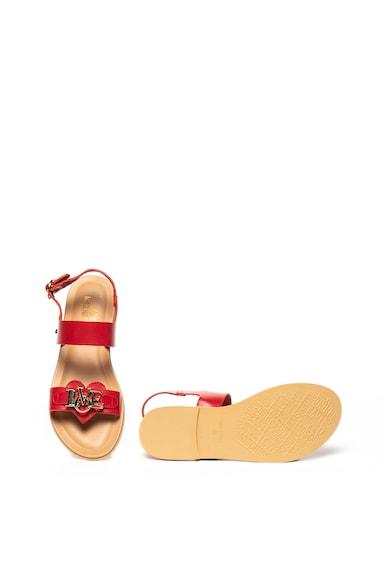 Love Moschino Sandale de piele cu aplicatie in forma de inima Femei