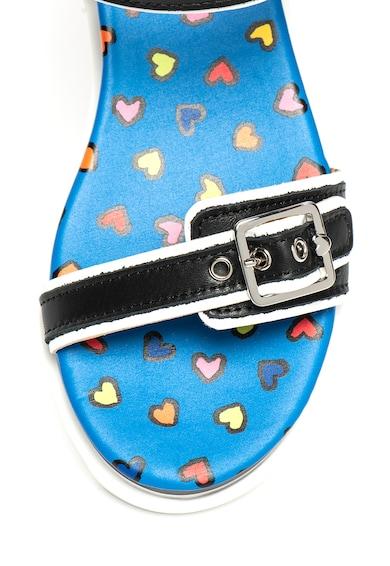 Love Moschino Кожени сандали с грайфер и скосена платформа Жени