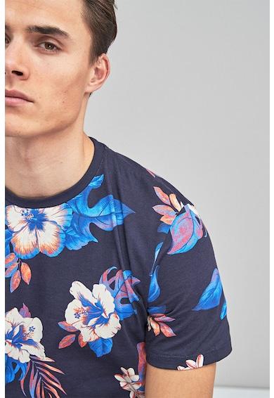 NEXT Kerek nyakú virágmintás póló férfi