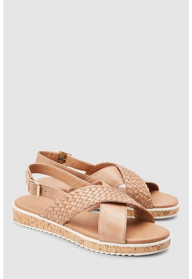 NEXT Sandale de piele cu model tesut Femei