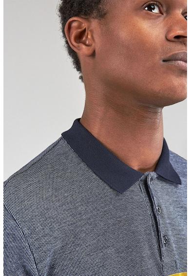 NEXT Slim fit galléros póló colorblock dizájnnal férfi