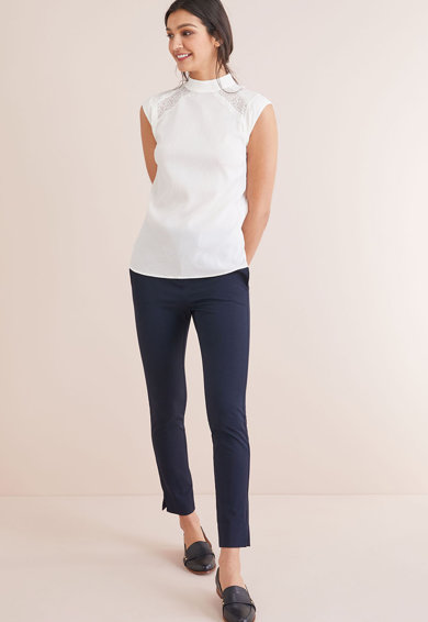 NEXT Bluza fara maneci, cu insertii din dantela Femei