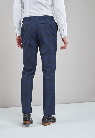 NEXT Pantaloni regular fit eleganti de lana in carouri Barbati