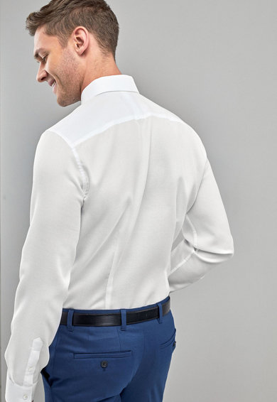NEXT Camasa slim fit texturata Barbati