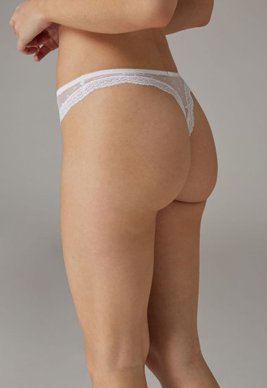 NEXT Chiloti tanga de plasa cu garnituri de dantela Femei