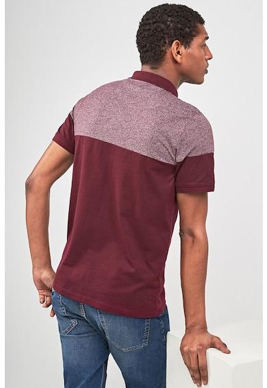 NEXT Galléros póló colorblock dizájnnal férfi
