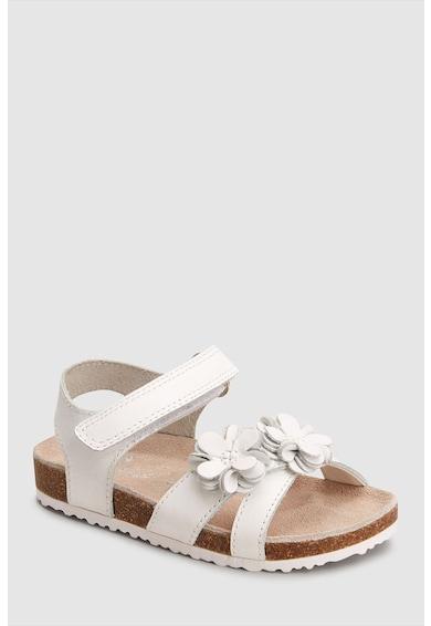 NEXT Sandale de piele cu aplicatie florala Fete