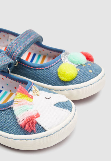 NEXT Pantofi Mary Jane cu model unicorn Fete