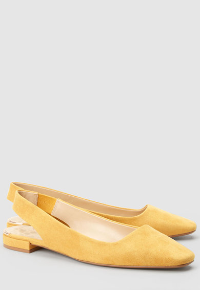 NEXT Обувки от еко велур, с отворена пета Жени