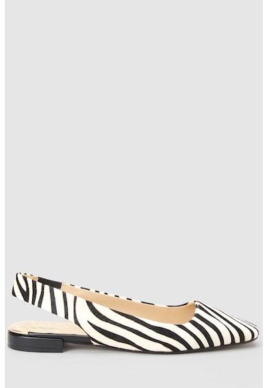 NEXT Pantofi slingback de piele cu par scurt, cu imprimeu zebra Femei