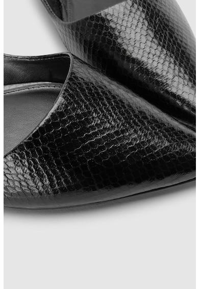 NEXT Műbőr sarokpántos cipő hegyes orral női