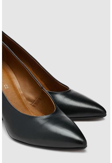 NEXT Pantofi de piele cu varf ascutit si toc masiv Femei