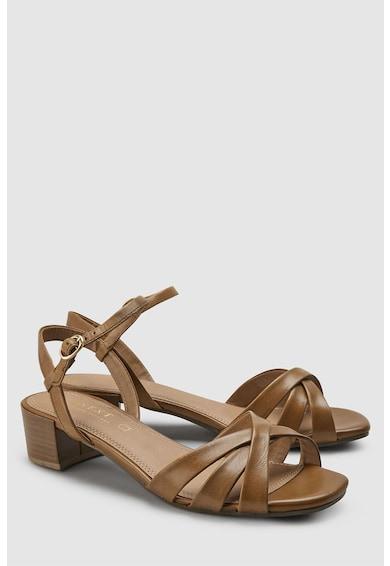 NEXT Sandale de piele cu toc masiv Femei