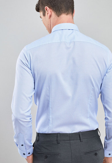 NEXT Set de camasa slim fit si cravata Barbati