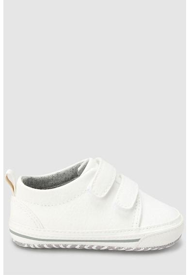NEXT Pantofi sport de piele ecologica cu velcro Baieti